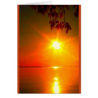 Puede el brillo ligero de dios sobre usted tarjeta