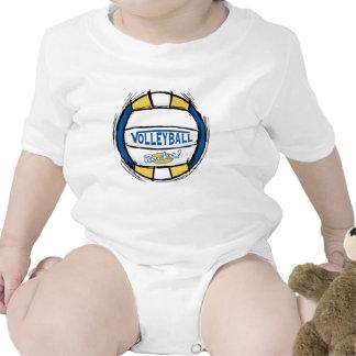 Puede el empuje de U él oro del azul del voleibol Traje De Bebé