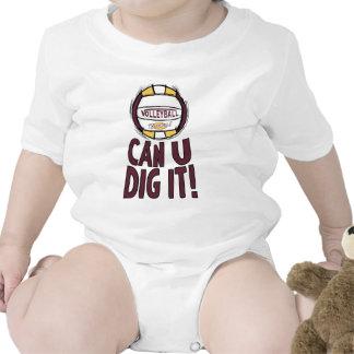 Puede el empuje de U él voleibol Traje De Bebé