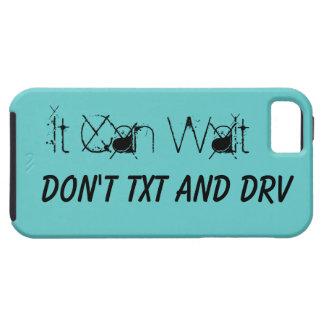 Puede esperar no hace texto y conducir iPhone 5 funda