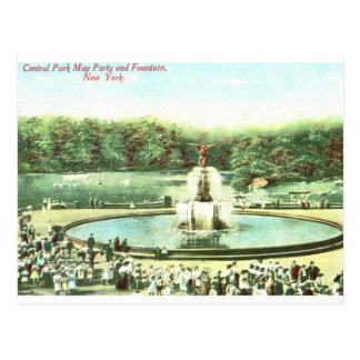 Puede ir de fiesta, el Central Park, vintage de Tarjetas Postales