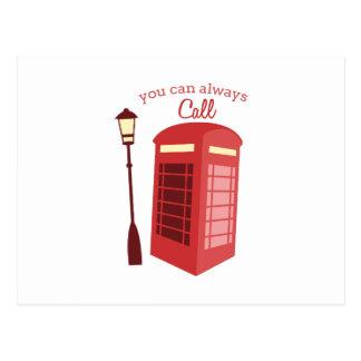 Puede llamar siempre postal