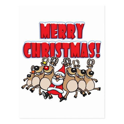 ¡PUEDE PODER Felices Navidad! Postal