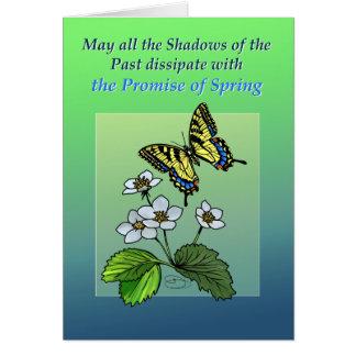 Puede saltar disipan sombras tarjeta de felicitación