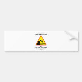 Puede ser mirada antiintuitiva abajo invierte siem pegatina de parachoque