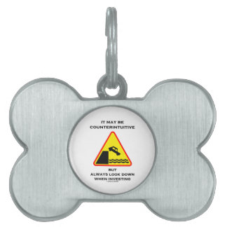 Puede ser mirada antiintuitiva abajo invierte siem placa de mascota