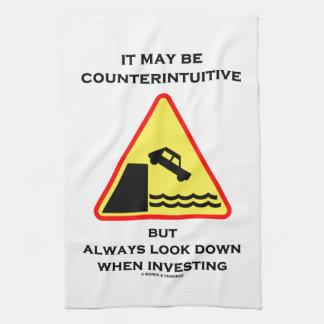 Puede ser mirada antiintuitiva abajo invierte siem toalla de mano