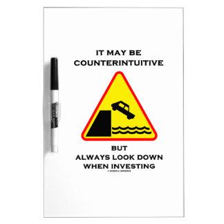 Puede ser mirada antiintuitiva abajo invierte siem tableros blancos