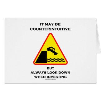 Puede ser mirada antiintuitiva abajo invierte siem tarjetón