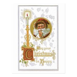 Puede su navidad ser vintage feliz del Victorian Postales