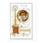 Puede su navidad ser vintage feliz del Victorian Tarjetas Postales