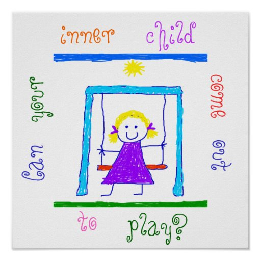 ¿Puede su niño interno salir jugar? Posters