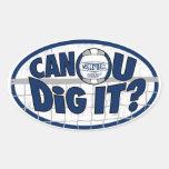 ¿Puede U cavarlo? Azul marino Colcomanias De Ovaladas