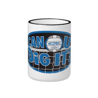 ¿Puede U cavarlo? Azul y plata Tazas De Café