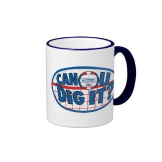 ¿Puede U cavarlo? Rojo y azul Tazas De Café