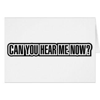 ¿Puede usted ahora oírme? Felicitacion