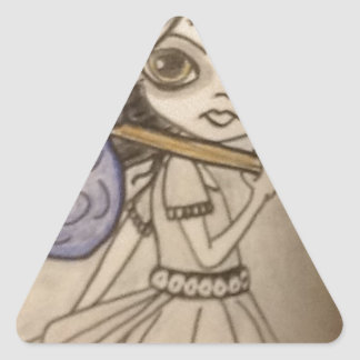 ¿Puede usted ahora oírme? Pegatina Triangular