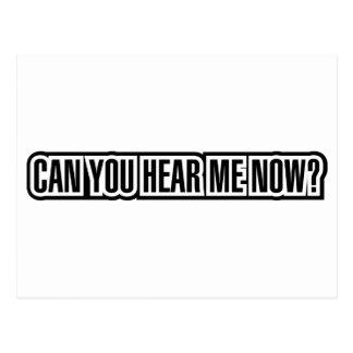 ¿Puede usted ahora oírme? Postales