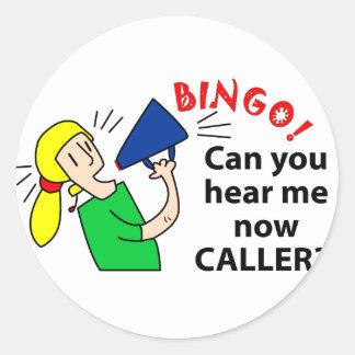 ¿Puede usted ahora oírme visitante del bingo? Pegatina Redonda