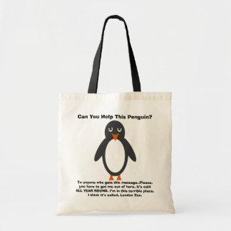 ¿Puede usted ayudar a este pingüino? Bolsa