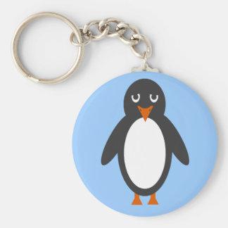 ¿Puede usted ayudar a este pingüino? Llavero Redondo Tipo Pin