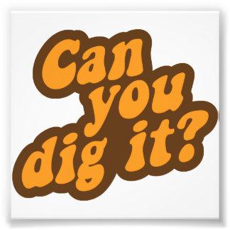 ¿Puede usted cavarlo? Cojinete