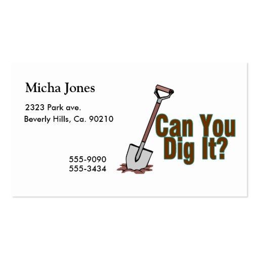 Puede usted cavarlo tarjetas de visita