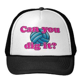 ¿Puede usted cavarlo? ¡Voleibol! Gorra