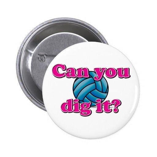 ¿Puede usted cavarlo? ¡Voleibol! Pin