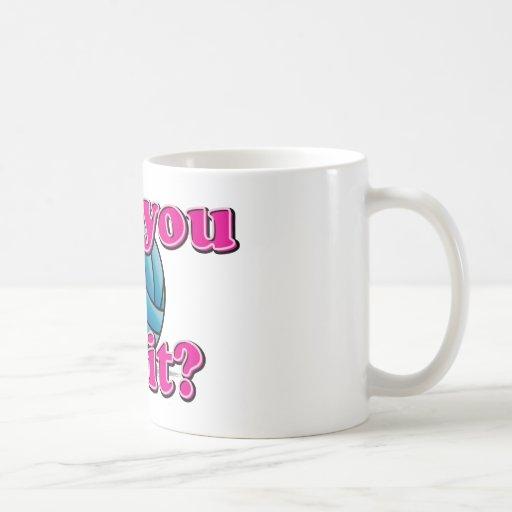 ¿Puede usted cavarlo? ¡Voleibol! Tazas De Café