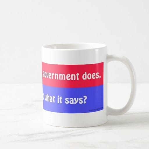 ¿Puede usted confiar en al gobierno? Tazas De Café