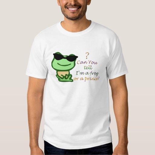 ¿Puede usted decirme es una rana o príncipe? Camisas