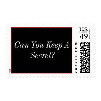 ¿Puede usted guardar un secreto? Estampilla