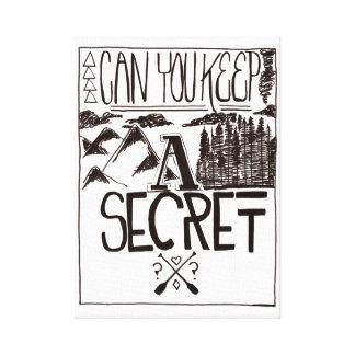 Puede usted guardar un secreto impresiones en lona estiradas