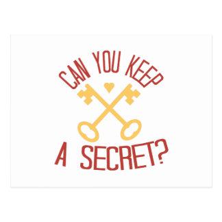 ¿Puede usted guardar un secreto? Postales