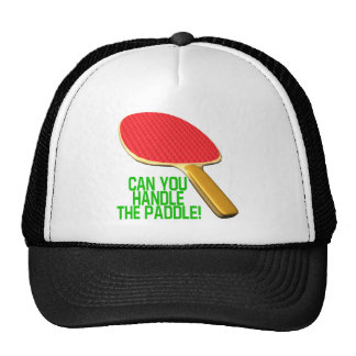 Puede usted manejar la paleta gorra