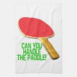 Puede usted manejar la paleta toalla de mano