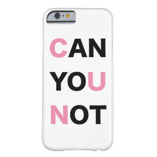 PUEDE USTED NO FUNDA DE iPhone 6 BARELY THERE