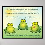Puede usted nunca encontrar ranas en sus calzoncil posters