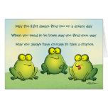 Puede usted nunca encontrar ranas en sus tarjeta de felicitación