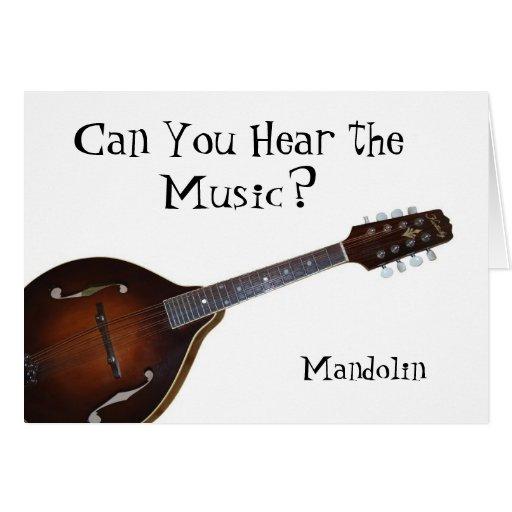 ¿Puede usted oír la música? - Mandolina Tarjeta De Felicitación