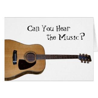 ¿Puede usted oír la música? Tarjeta De Felicitación