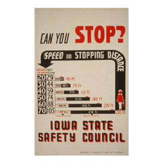 ¿Puede usted parar? Poster de la seguridad en carr