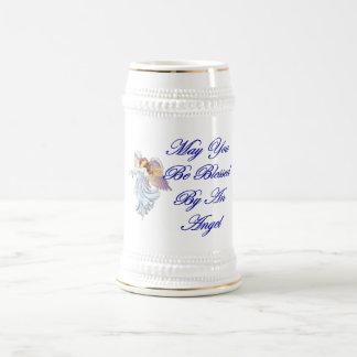 Puede usted ser bendecido por un ángel jarra de cerveza