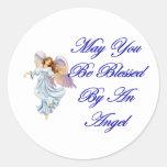 Puede usted ser bendecido por un ángel pegatina