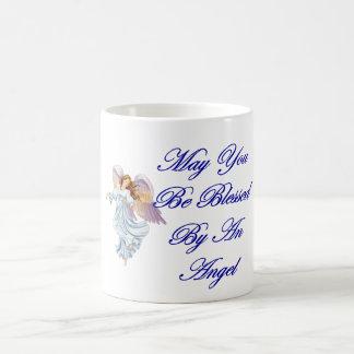 Puede usted ser bendecido por un ángel taza