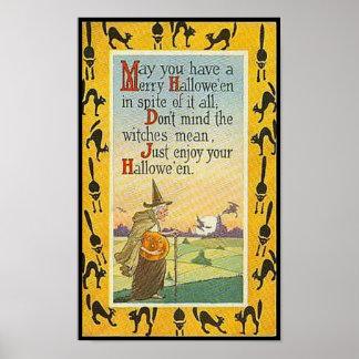 Puede usted tener un feliz Halloween Posters