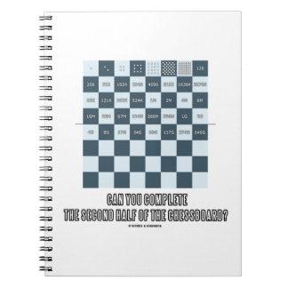 Puede usted terminar la segunda mitad del tablero cuadernos