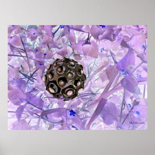¿Puede usted ver las flores púrpuras? Póster