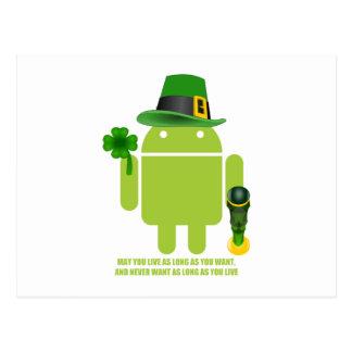 Puede usted vivir mientras usted quiera el android postales